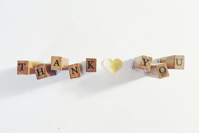 #Giveaway4Good Week Four: The Power of Saying Thank You